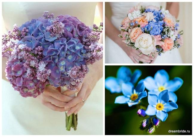 цветы для букетов фото и название: незабудки