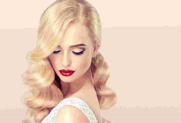 Cвадебный макияж с яркими губами