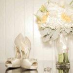 Свадебные туфли с открытым носом - фото