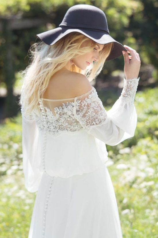 свадебное платье невесты в стиле бохо