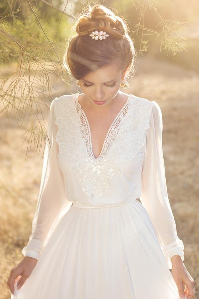свадебное платье невесты с длинными рукавами