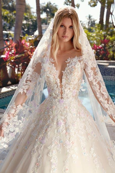 Свадебные прически с фатой