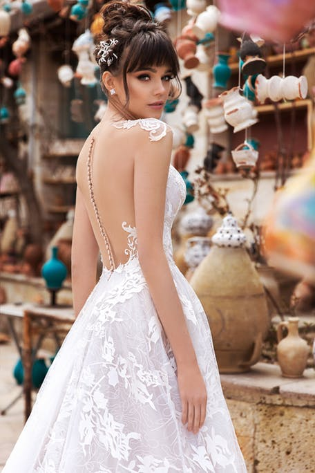 свадебные прически с челкой