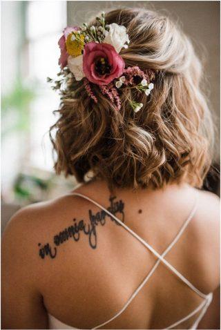 свадебные прически с цветком
