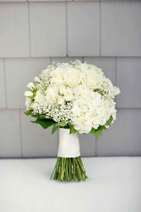 Свадебные букеты 2020: белый букет для невесты