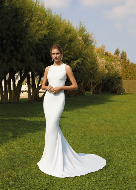 Минималистское свадебное платье русалки