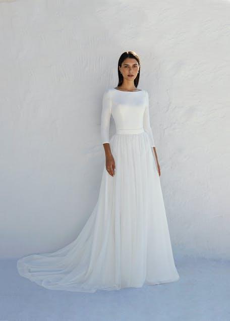Скромное свадебное платье принцессы