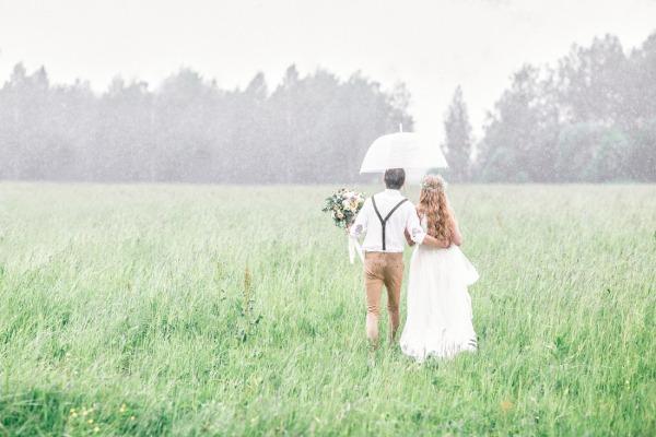 Суеверие, связанное с погодой в день свадьбы
