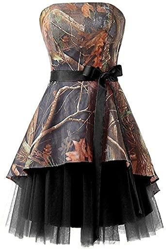 Короткие свадебные платья с камуфляжным принтом